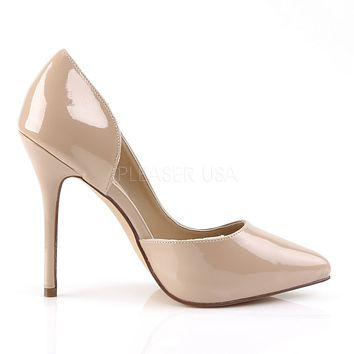 "Amuse 22 Nude Patent Pointy Toe Pumps 5"" High Heel Shoes"