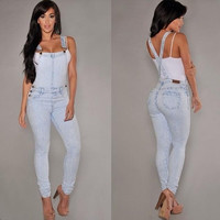 Hole denim overalls, sling Siamese jeans = 1930317572