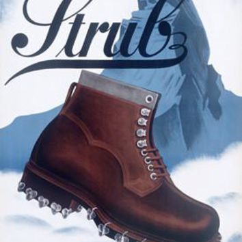 Strub Mountaineering Boot Ad Fine Art Print
