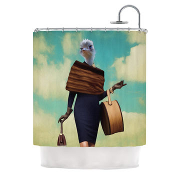 "Natt ""Passenger 1A"" Ostrich Shower Curtain"