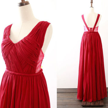 Burgundy Prom Dress, Straps V Neck Chiffon Long Prom Gown, Wine Red Formal Gown, Wedding Bridesmaid Dress
