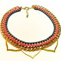 Lead and Follow Statement Necklace-One of a Kind Necklace
