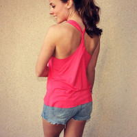 Twist Racerback Pocket Tank