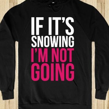 IF IT'S SNOWING (WHITE)