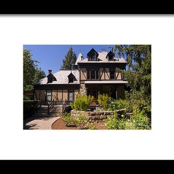 Rhine House At Beringer Winery St Helena Napa California Dsc1724 Framed Print