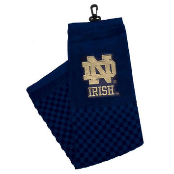 Notre Dame Fighting Irish NCAA Embroidered Tri-Fold Towel