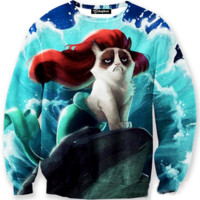 Grumpy Cat Mermaid Crewneck