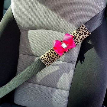 Cheetah Car Seat Belt Covers 2 Piece Pair of Seat Belt Covers