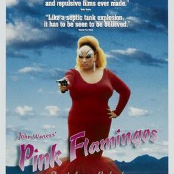 Pink Flamingos movie poster Sign 8in x 12in