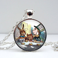 Mad Hatter Necklace : Alice in Wonderland Tea Party