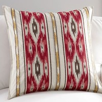 HOLIDAY IKAT STRIPE PILLOW COVER