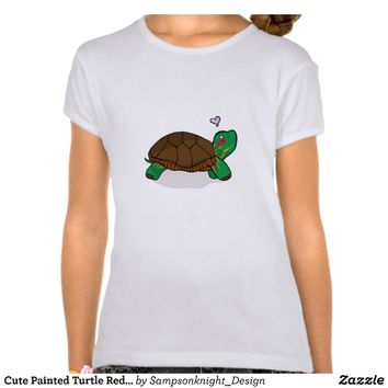 Cute Painted Turtle Red - Kids t-shirts from Zazzle.com