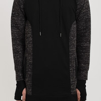 D19 Stealth Panelled Hoody - Charcoal