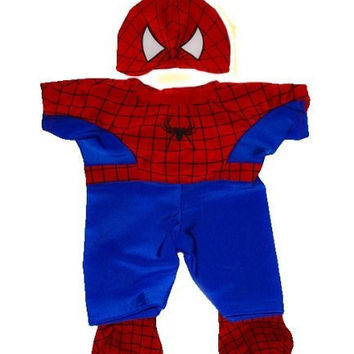 """Spidey Teddy outfit Teddy Bear Clothes Fit 14"""" - 18"""" Build-A-Bear, Vermont Teddy Bears, and Make Your Own Stuffed Animals by Teddy Mountain"""