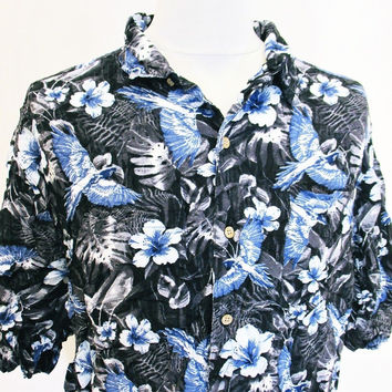 Retro Hawaiian Tropical Walmart Indie Pattern Shirt 2XL