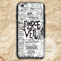 Fan Art Pierce The Veil Song Lyric iPhone 4/4S, 5/5S, 5C Series, Samsung Galaxy S3, Samsung Galaxy S4, Samsung Galaxy S5 - Hard Plastic, Rubber Case