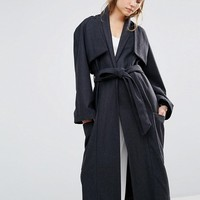 House Of Sunny Luxe Casual Trench Coat at asos.com