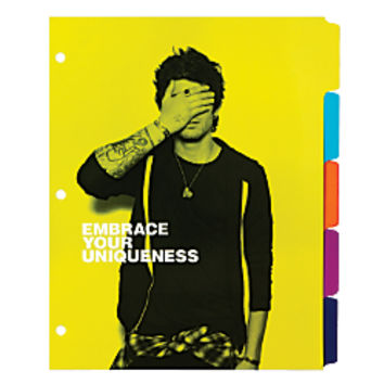 One Direction Limited Edition 1D OD Together Tab Dividers 5 Tab 8 12 x 11 Multicolor by Office Depot