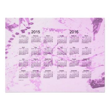 Old Magenta Paint 2 Year 2015-2016 Wall Calendar Print from Zazzle.com