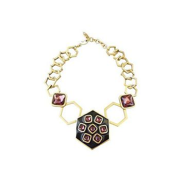 Pre-owned 1980s Yves Saint Laurent Modernist Necklace