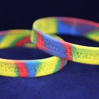 Autism Awareness Silicone Bracelets (50 per bag)-Adult Size