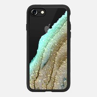 FLAWLESS AQUA FAUX GOLD by Monika Strigel iPhone 6 iPhone 7 Hülle by Monika Strigel | Casetify
