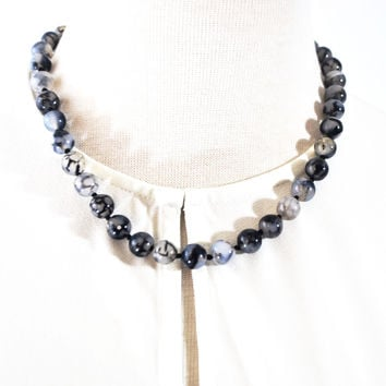 Dragon Eye Agate Beaded Necklace