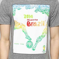 Brazil '14 Official World Cup Tee- Grey