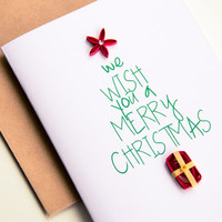 Holiday Cards - Christmas Cards - Typography Christmas card - Christmas Tree Card - Merry Christmas Cards -