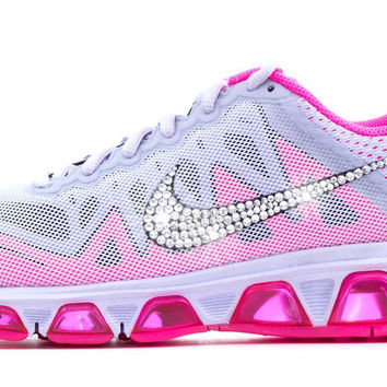 purchase nike air liberty pink glitter 991b6 4c8ee  cheap nike air max  tailwind crystallized swarovski swoosh gray pink 5ddec 5e257 e3fbfe1fe2