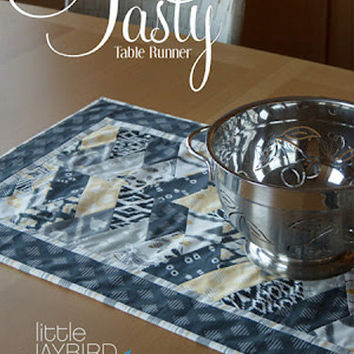 Tasty Table Runner Pattern, Little Jay Bird Quilts, Craft Supplies, Pattern Supply