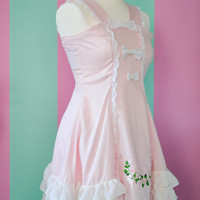 SURVIVAL-SALE Pastel Pink Lolita A-Line Flower Dress