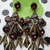 Cascading Waterfall Earrings - Burgundy