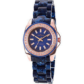 Anne Klein Women's Blue Link Bracelet Watch | Overstock.com