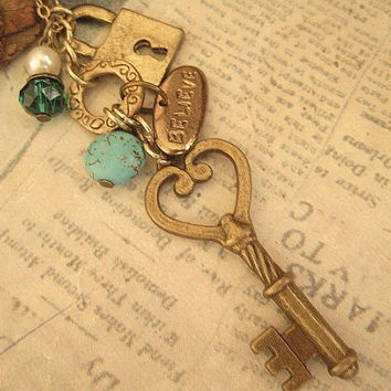 Believe you're the Key Charm necklace