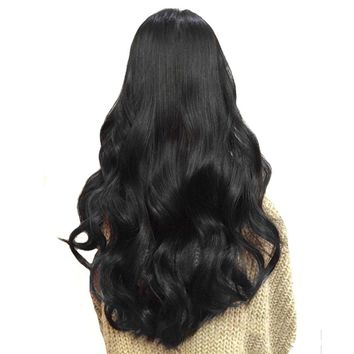 "SNOILITE 17"" 24"" Lady Long Curly 18 Clip in Hair Extension 100% Real Natural Synthetic Hairpieces 8pcs/lot For human"