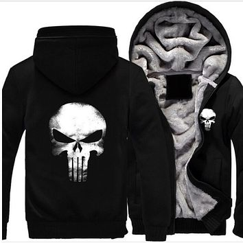 Men Fashion Warm Skull Sweater
