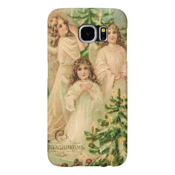 Vintage Russian Art Christmas Angels Phone Case