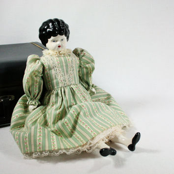 Vintage Antique Porcelain Doll Marked