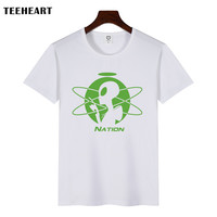 Men's Cool Alien Science Print T-Shirt For Men Summer White Cartoon T shirt  Hipster Tees