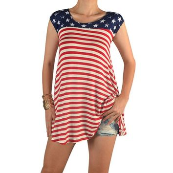 American Flag Tunic Top