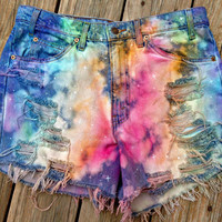 Custom High-waist Shorts The beehipster Signature Galaxy Shorts