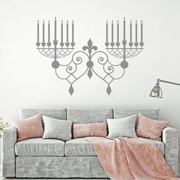 Vinyl Wall Decal Sconce Lights Vintage Style Room Decoration Stickers Unique Gift (1581ig)