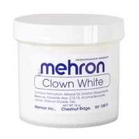 Clown White Cream Costume Makeup 16 Oz