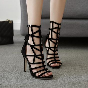 Women's Sandals Thin High Heel Gladiator Casual Summer Fashion Dress Pumps
