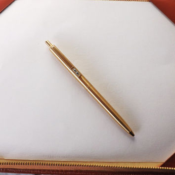 Vintage Ball Point PaperMate, Gold Paper Mate Midcentury Biro, Slimline Retro Pen, Keepsake Gift, Executive Writing, Office Gift