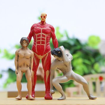 Cool Attack on Titan 3 Piece New  Colossal   Animation Action Figure Doll House Birthday Christmas Gifts Kids Toys AT_90_11