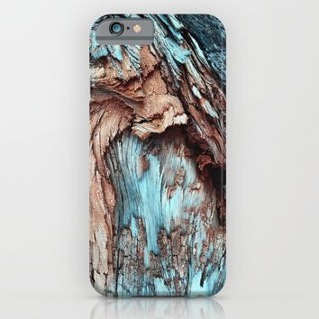 Mint Blue Wood Texture iPhone & iPod Case by The Backwater Co