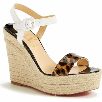 Christian Louboutin 'Spachica' Espadrille Wedge 5654 Size 40