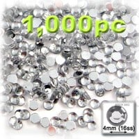 The Crafts Outlet 10000-Piece Flat Back Loose Acrylic Round Rhinestones, 4mm, Crystal Clear